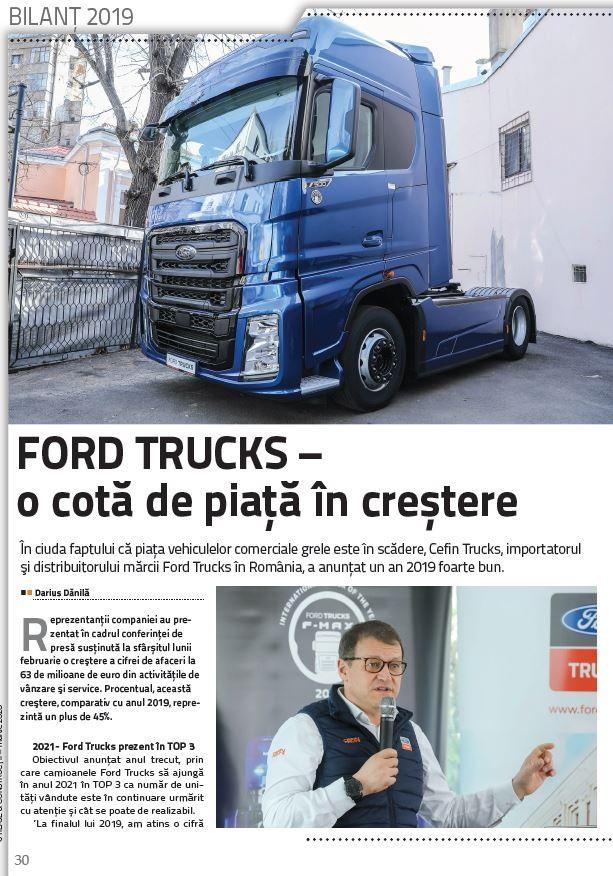 PRESA - Utilaje si constructii - Ford Trucks - o cota de piata in crestere - Martie 2020