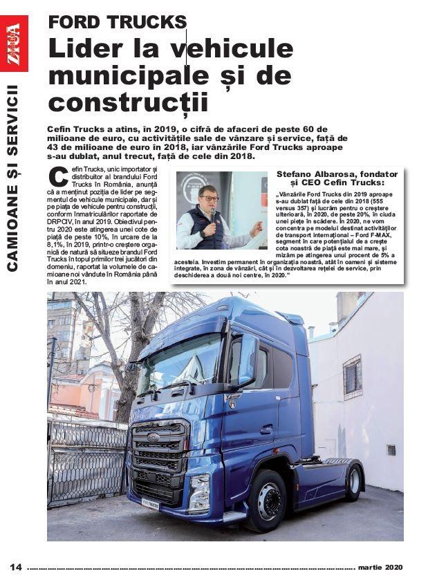 PRESA - Ziua Cargo - FORD TRUCKS -  Lider la vehicule municipale și de construcții